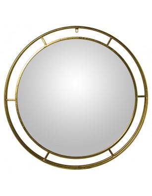 Espejo redondo dorado Ø88CM