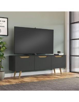 Mueble de TV gris FORMENTOR